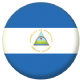 Nicaragua Country Flag 58mm Button Badge